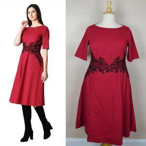 eshakti Filigree Wool Embellished Dress